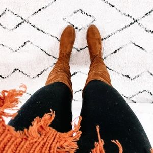 Twilight Gypsy Collective Shoes - Vegan Tan Suede Knee High Boots